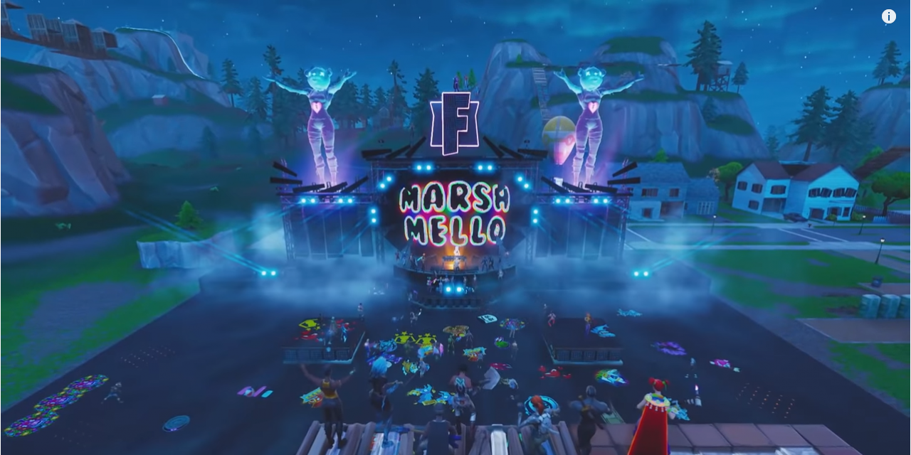 Fortnite booked Marshmello for an in-game concert and it was AWESOME!