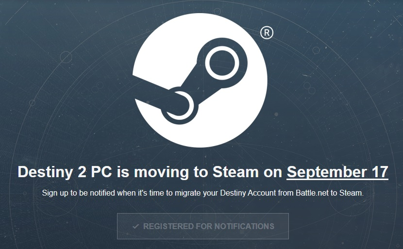 Destiny 2 for PC moving to Steam - Game On AUS