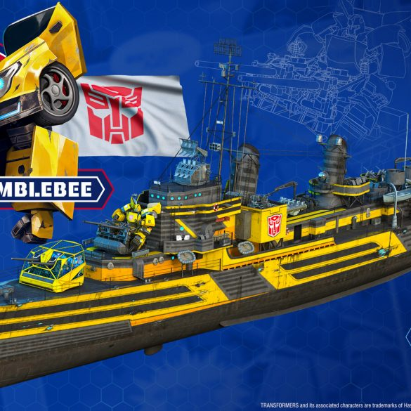 Bumblebee features as a commander and ship skin in World of Warships