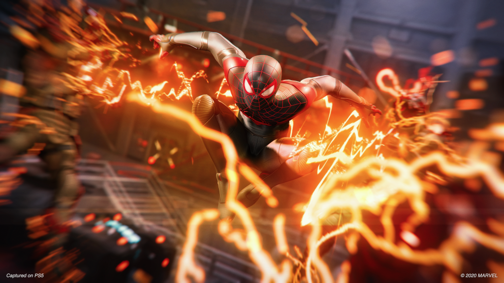 Screen capture from Spider-Man Miles Morales