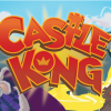 Castle Kong text with Princess in tower in the top left background, evil Baron in the bottom left foreground and hero Pauper in the bottom right foreground