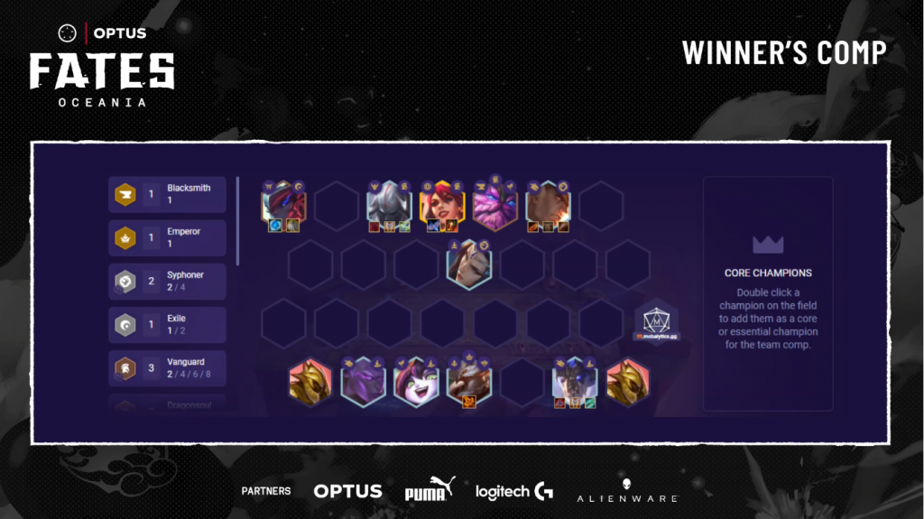 Oceania TFT Fates Regional Finals - Game 5 Winning Comp by CosmicSloths