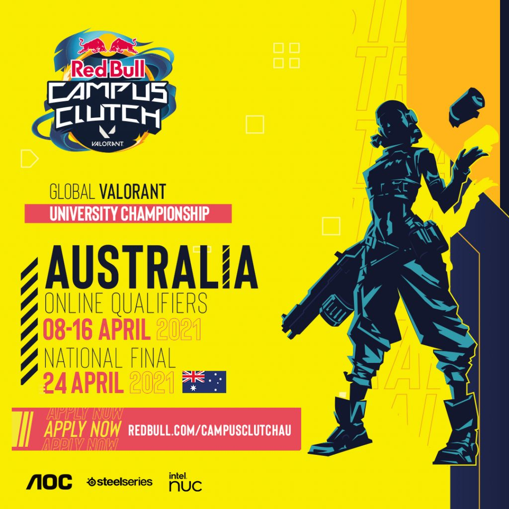 Red Bull Campus Clutch Valorant Australian Qualifiers and Finals Dates