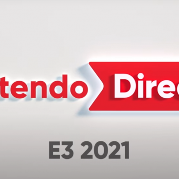 White background with Nintendo Direct E3 2021 written on it